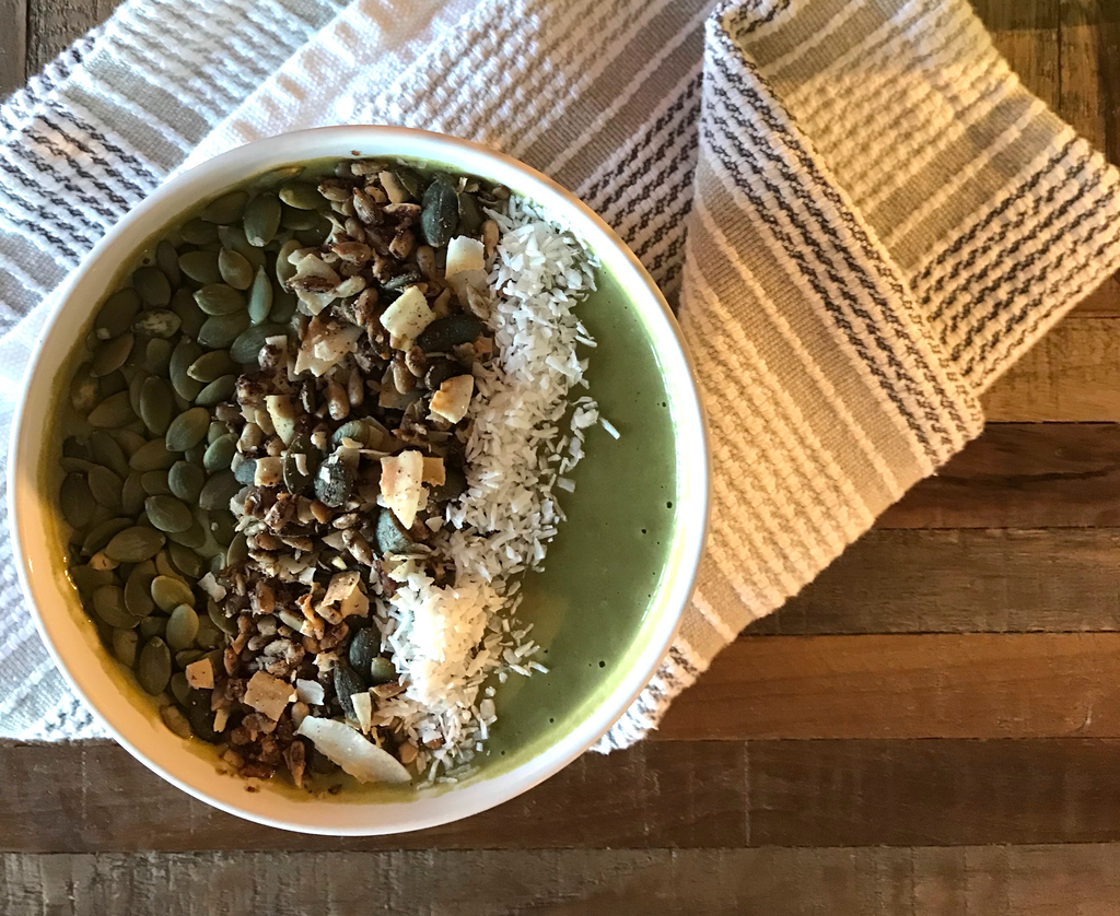 Ergogenics Protein Packed Green Smoothie Bowl