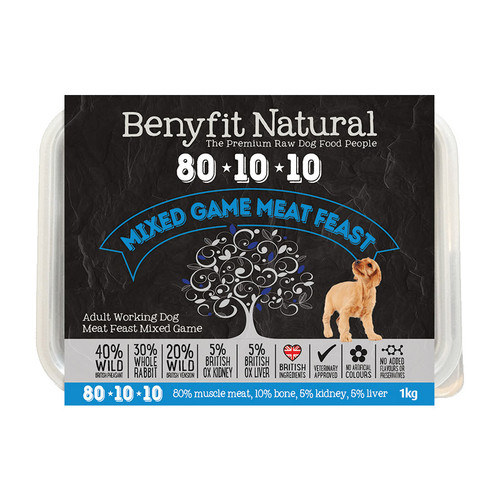 Benyfit Natural 80:10:10 Mixed Game Meat Feast RAW dog food