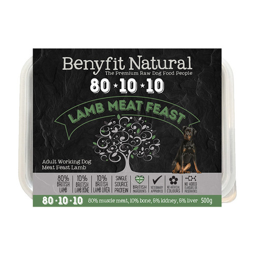 Benyfit Natural 80:10:10 Lamb Meat Feast RAW dog food