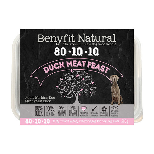 Benyfit Natural 80:10:10 Duck Meat Feast RAW dog food