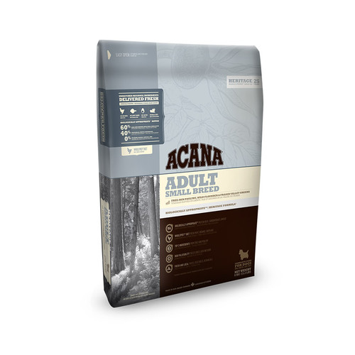 Acana Heritage Adult Small breed dog food available at K9active Dunfermline, Edinburgh, Fife
