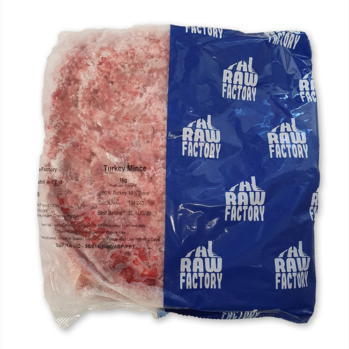 The RAW Factory Turkey mince 1kg pack