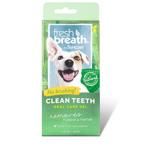 Tropiclean Oral Care Gel for dogs. Cleans teeth and gums