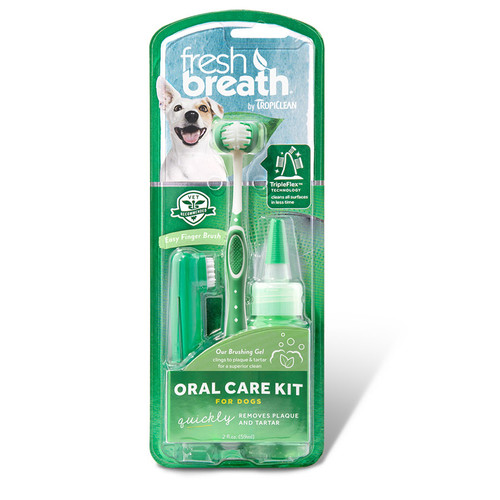 Tropiclean Oral Care Kit for dogs. Clean teeth and fresh breath