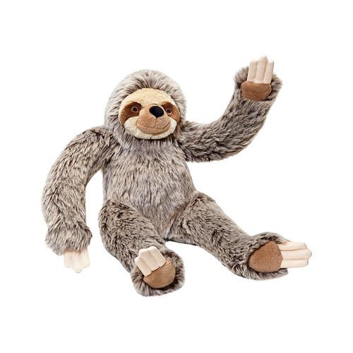 Fluff & Tuff Tico Sloth tough plush dog toy.