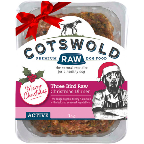Christmas Dinner Three Bird RAW Available to buy at K9active Dunfermline. Your specialist Dog store in Fife