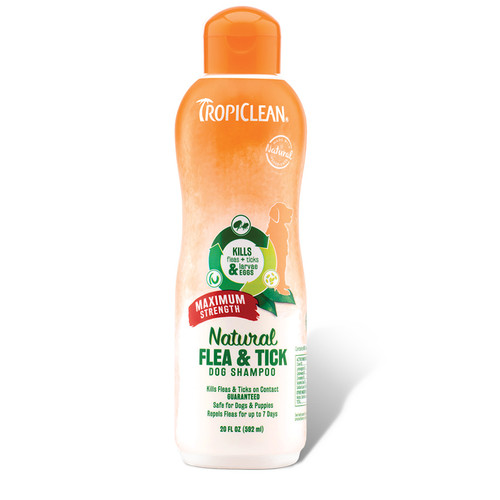 Tropiclean Max Strength Flea and Tick Shampoo for dogs