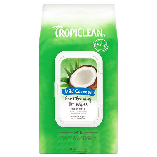 Tropiclean ear cleaning wipes for dogs