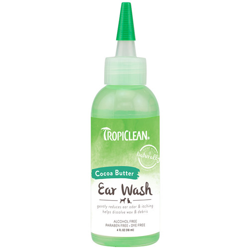 Tropiclean Ear Wash with Cocoa butter for dogs