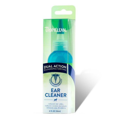 Tropiclean Dual Action ear cleaner for dogs