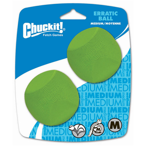 Chuckit Erratic Ball Pack of 2 size medium