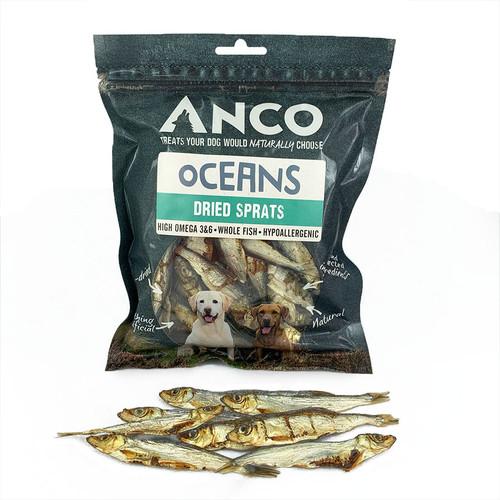 Anco Ocean Dried Sprats in packaging