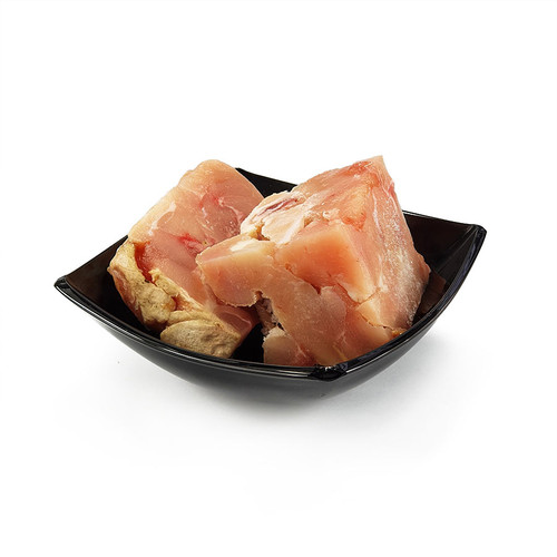 Boneless Chicken Chunks by The RAW Factory, showing a couple of the chunks in a bowl