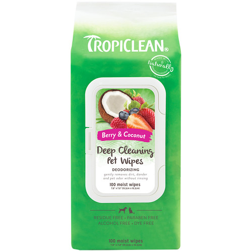 Tropiclean Deep Cleaning Wipes for dogs