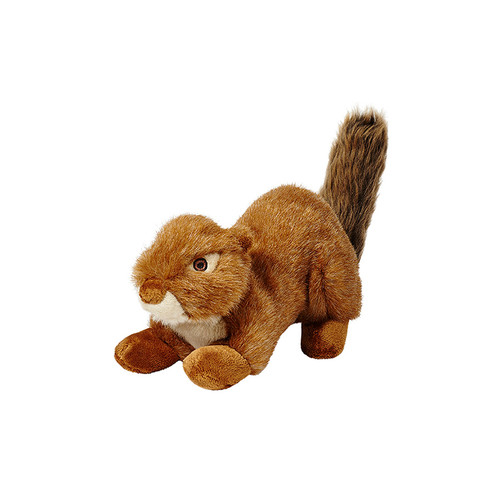 Squeakerless Red Squirrel by Fluff & Tuff Plush Dog Toy