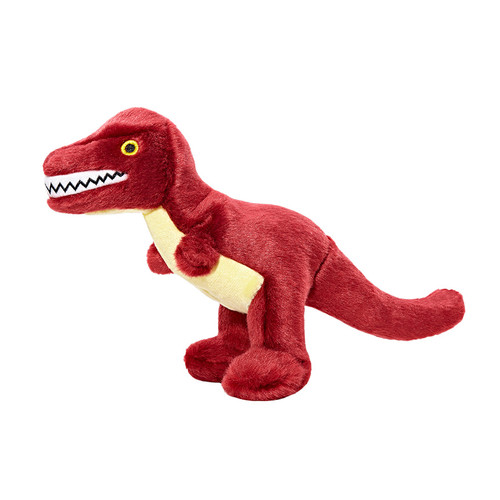 Tiny T-Rex by Fluff & Tuff Plush Dog Toy Side View