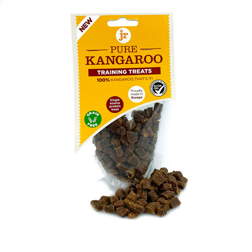 kangaroo Training Treats by JR Pet Products, showing packaging