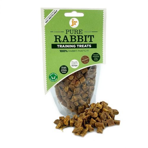 Rabbit Training Treats by JR Pet Products, showing packaging