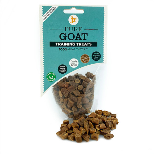 Goat Training Treats by JR Pets Products, showing packaging
