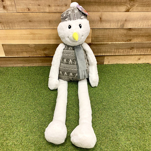 Giant Snowman Plush Dog Toy by Dog Life