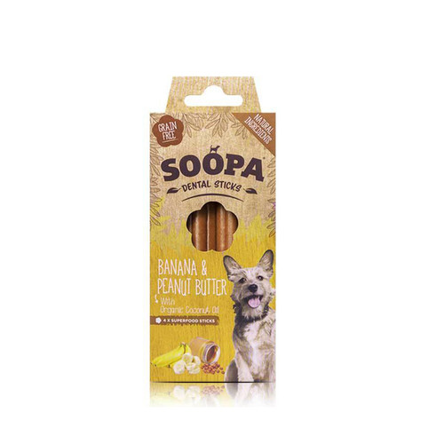 Soopa Banana & Peanut Butter Dental Sticks