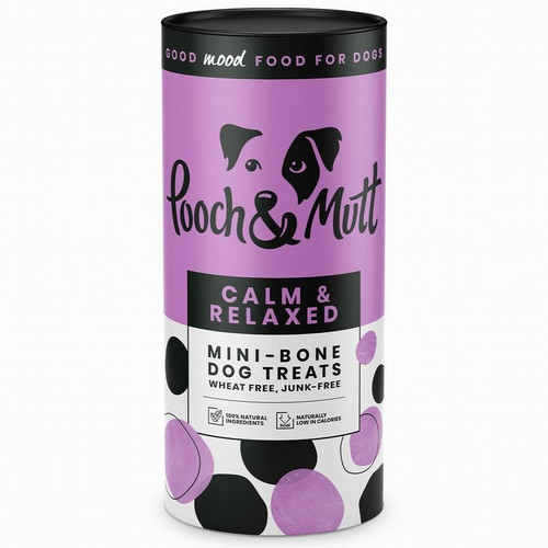 Calm & relaxed mini dog bones by Pooch and Mutt