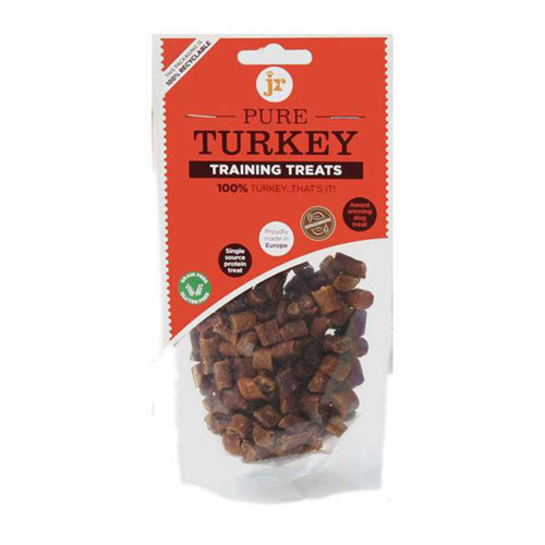 Pure Turkey Training Treats by JR Pet Products, showing packaging
