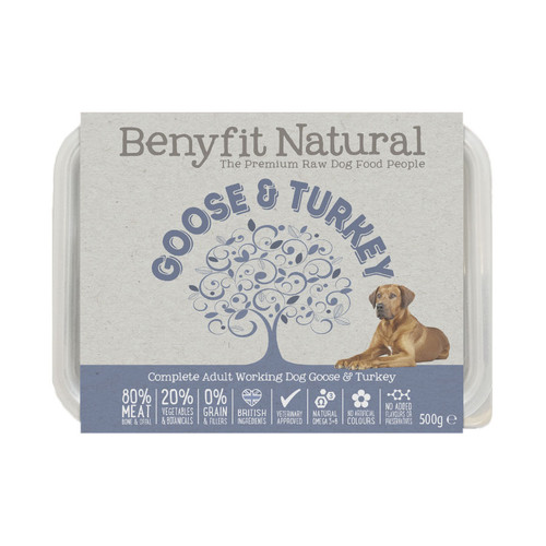 Goose and Turkey Complete Raw Dog Food by Benyfit Natural