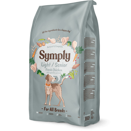 Symply Dry Dog Food in Senior / Light, showing outer packaging