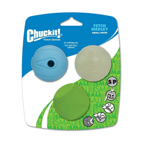 Chuckit! Fetch Medley Small Dog Toys showing outer packaging