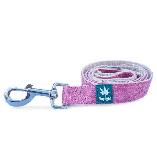 Hemp Dog Lead by Voyager in Pink