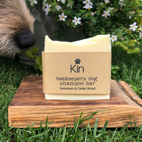 The Beekepers Paw Balm by Kin in Geranium & Cedarwood scent for Whiff Neutralising