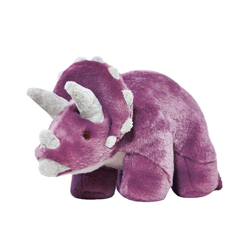 Charlie Triceratops plush dog toy by Fluff & Tuff