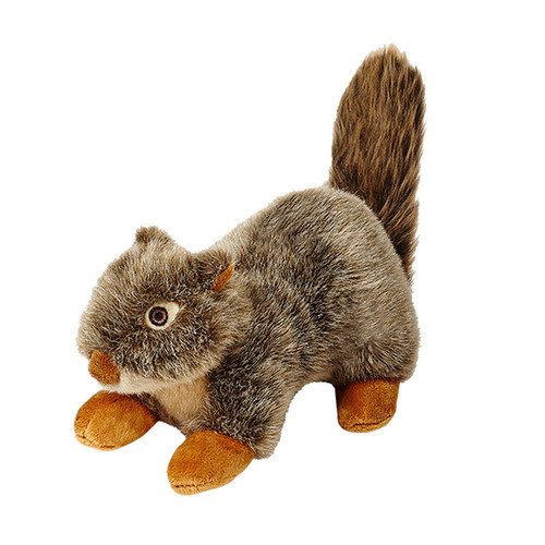 Fluff & Tuff Plush Nuts the Squirrel dog toy