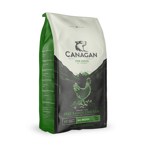 Canagan Free Range Chicken Dog Food. Available in 2kg, 6kg and 12kg bags at K9active