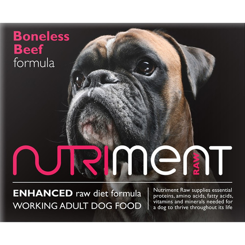 Nutriment Boneless Beef Formula. RAW Dog Food Delivery in Edinburgh, Stirling, Dunfermline, Glenrothes, Kirkcaldy, Fife