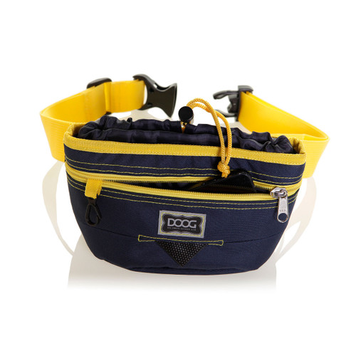 DOOG Treat & Training pouch in colour Navy with Yellow Trim.