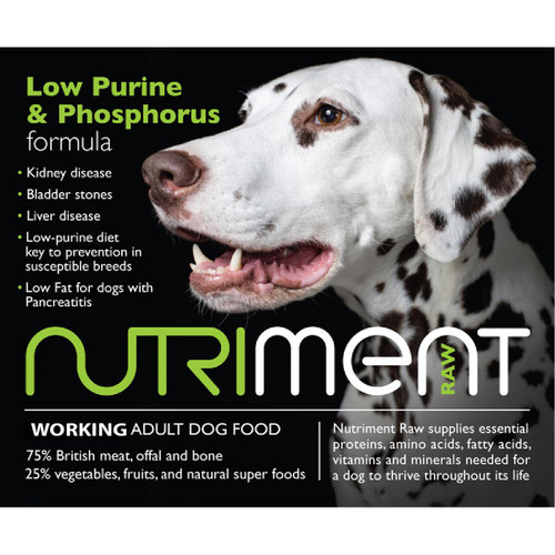 Nutrient RAW Dog Food Low Purine & Phosphorus Formula