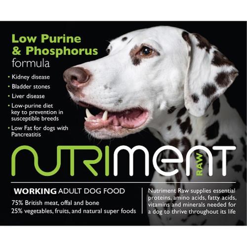 Nutrient RAW Dog Food Low Purine & Phosphorus Formula