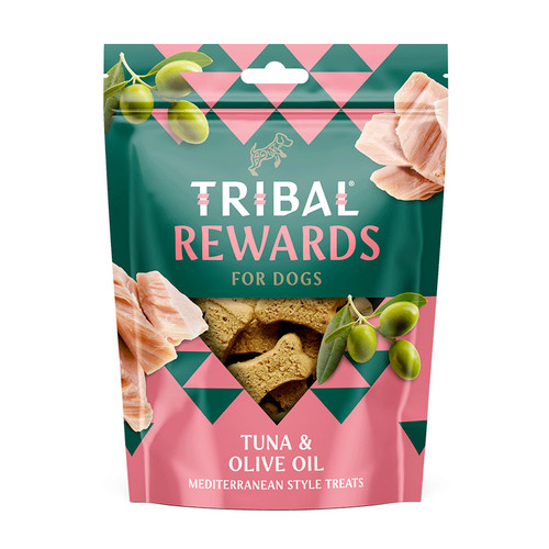 Tribal Rewards, showing the Tuna & Olive Oil flavour