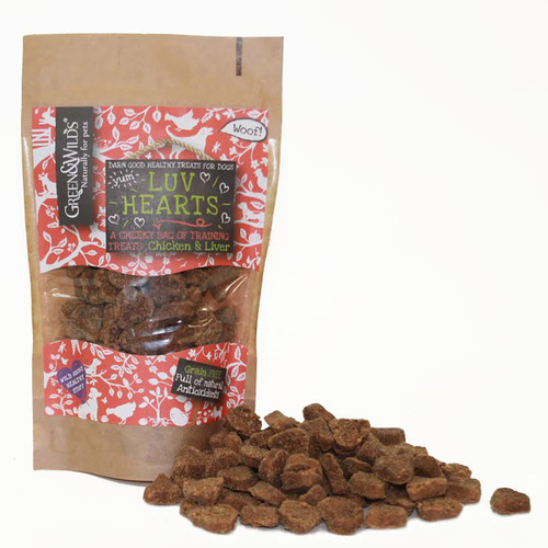 Green & Wild's Luv Hearts dog training Treats