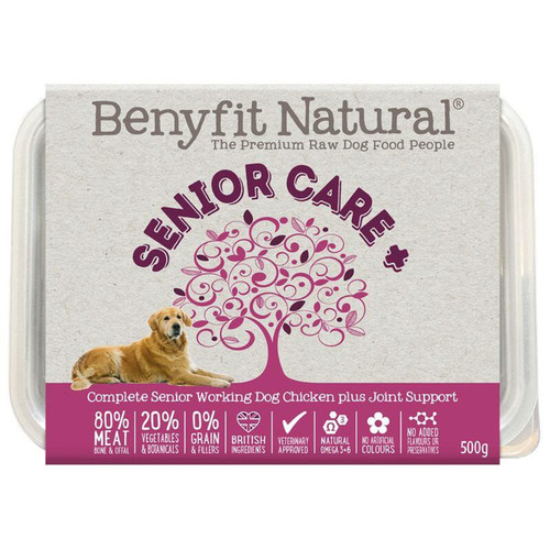 Senior Car Chicken RAW Dog Food from Benyfit Natural