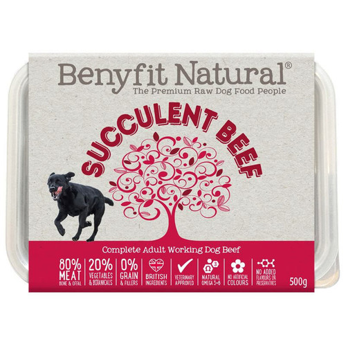 Succulent Beef Premium RAW Dog Food from Benyfit Natural