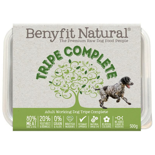 Benyfit Natural Premium RAW Tripe Complete Dog Food