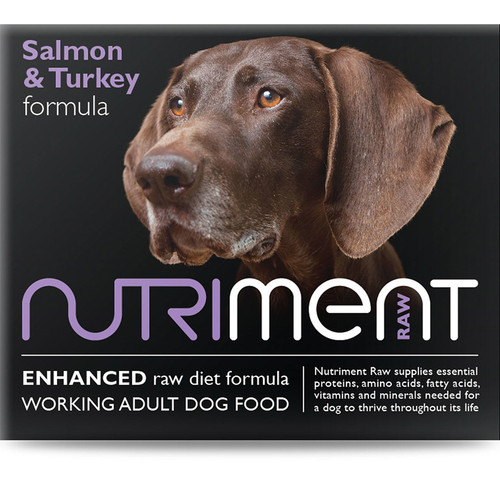Nutriment Adult Salmon and Turkey Complete RAW Dog Food