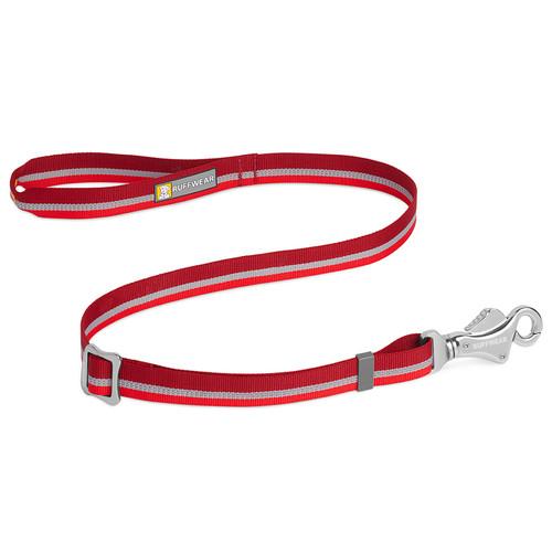 Ruffwear Patroller Dog Leash in colour Cindercone Red