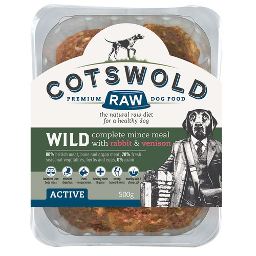 Cotswold RAW Wild Range Rabbit & Venison 500g or 1Kg Available for Delivery in Fife