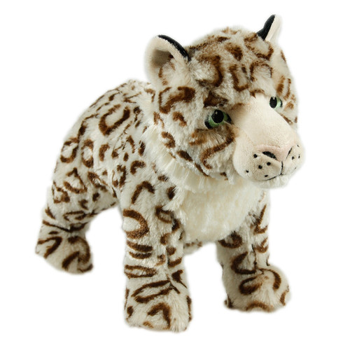 Animal Instincts Sophia Snow Leopard Snow Mates plush dog toy.