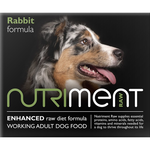 Nutriment Rabbit Formula RAW Dog Food 500g pack