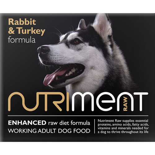 Nutriment Raw Dog Food Rabbit with Turkey Formula